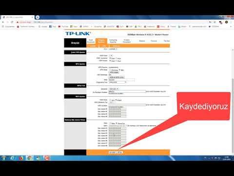 Tp Link TD-W8961N Modemi Acces Point Yapma