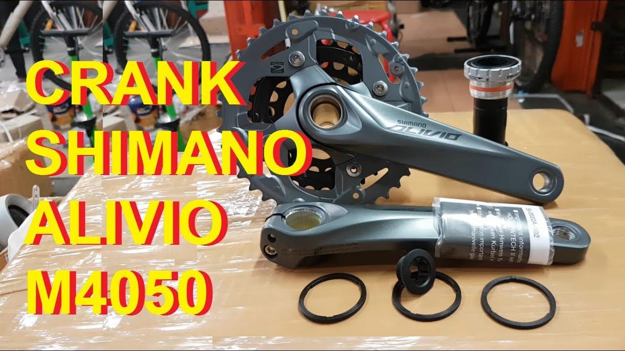 Crank Shimano Alivio M4050 40 30 22t Arm 170 Hollowtech Ii Youtube Crankset 40t Premium