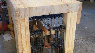 Under Bench Clamp Storage