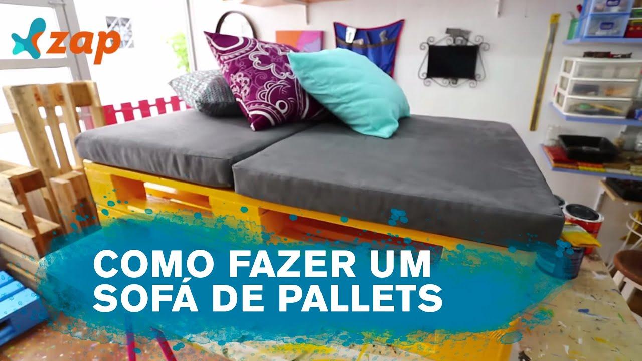 Como fazer um Sofá de Pallet Faça Você Mesmo   #097993 1920x1080