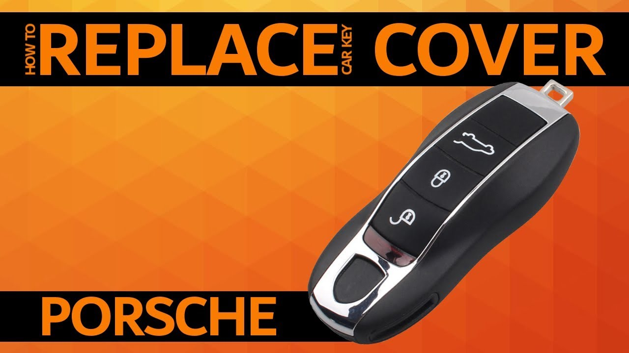 Porsche - How to replace car key cover - YouTube