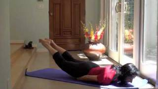 Strong Legs, Supple Back and Flat Belly with Shalabhasana (Locust) and Dhanurasana (Bow)