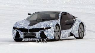 spy video 2013 bmw i8 coupe testing in the snow