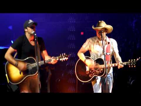 Jason Aldean and Luke Bryan Joker by Steve Miller Band at Intrust Bank Arena in Wichita Kansas