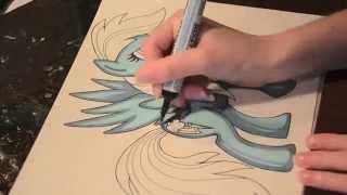 Speed painting MLP 6 of 6 - Rainbow Dash