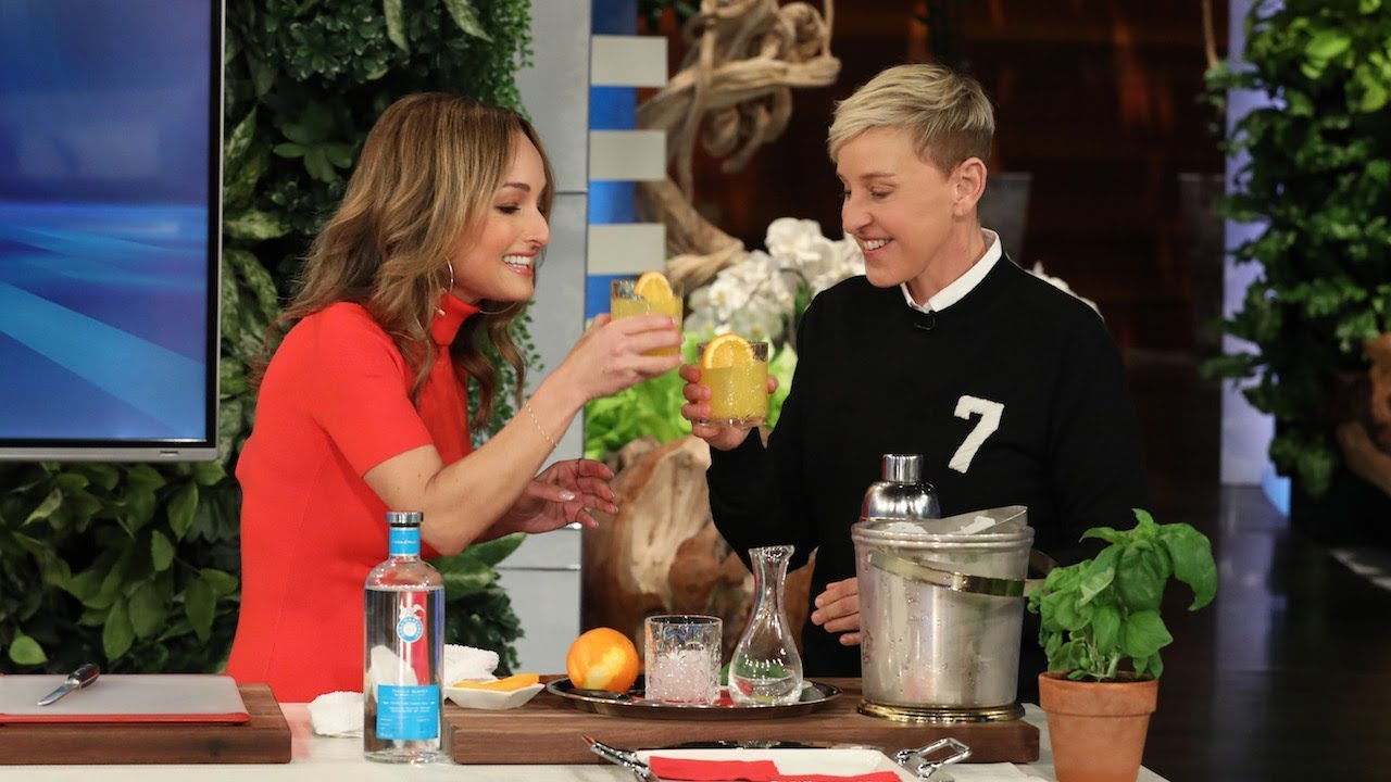 Giada De Laurentiis Teaches Ellen Italian Words While Cooking Up Italian Food
