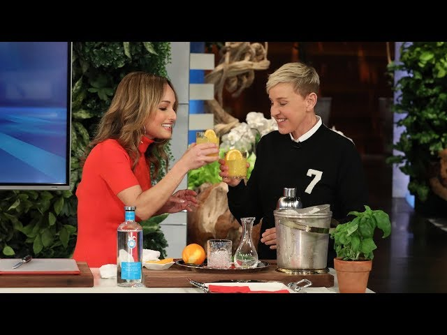 Giada De Laurentiis Teaches Ellen Italian Words While Cooking Up Italian Food