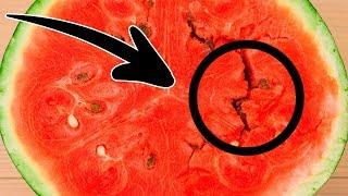 Se apri l'anguria e vedi questo, buttala via!