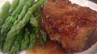 Castle Street Cafe: Pork Chop With Maple-dijon Glaze & Maple Walnut Tart!