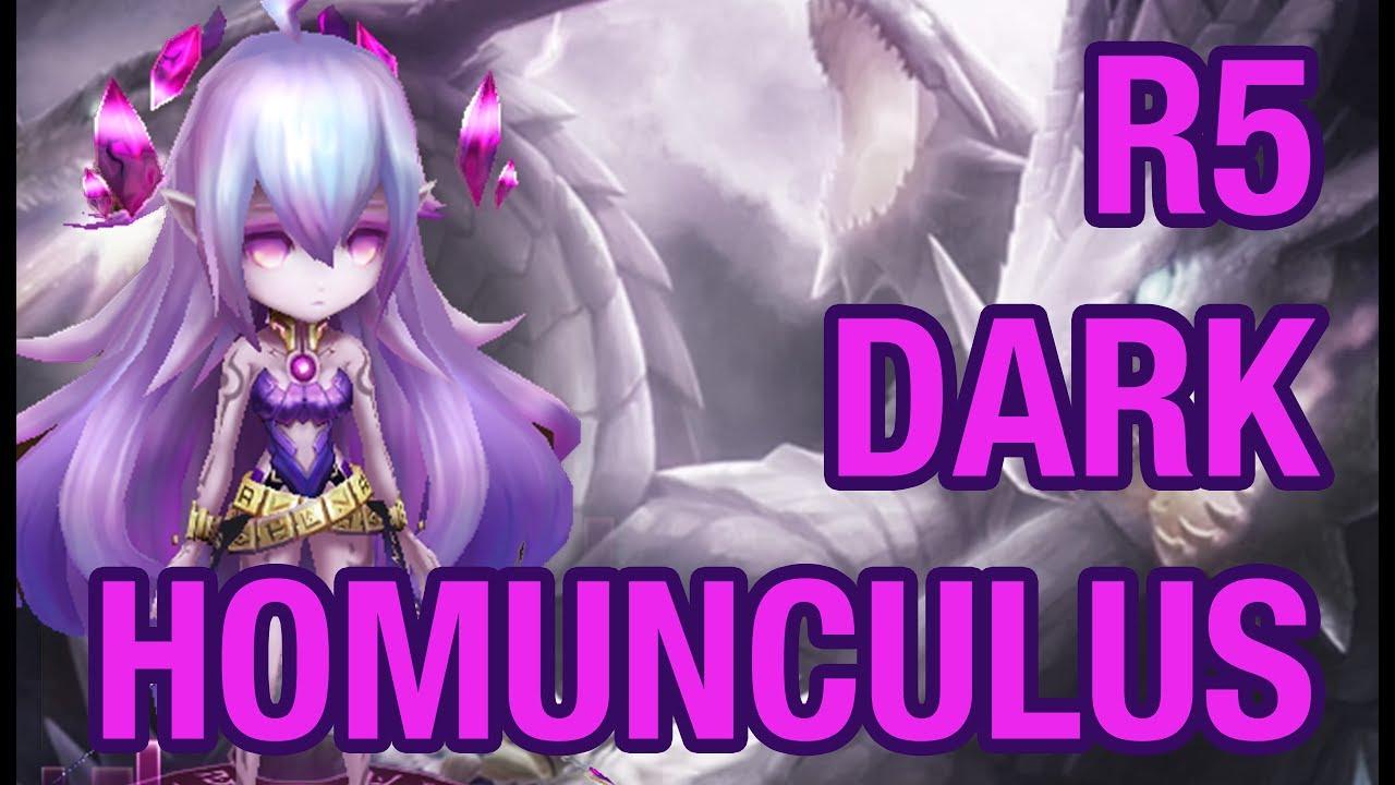 [Summoners War] Dark Homunculus vs Raid 5 ! (w/ subtitles)