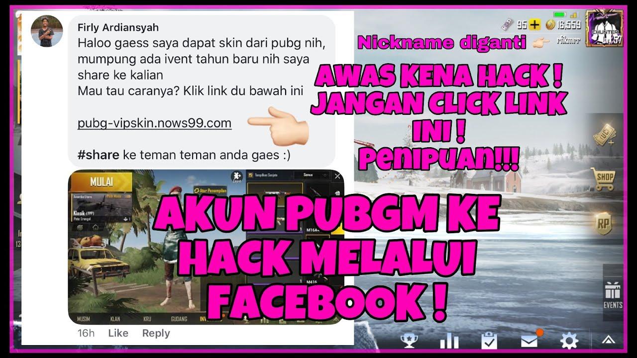 Akun Pubgm Ke Hack Melalui Facebook Gara2 Link Youtube