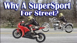 Why I Chose a SuperSport Motorcycle For Street Riding - Cruiser vs SuperSport