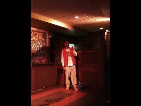 Eddie Cain sings karaoke
