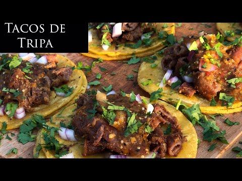 Tacos de tripa / Como Limpiar Tripas / Salsa Taquera