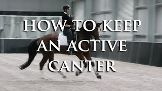 HOW DO I KEEP MY LAZY HORSE CANTERING WITHOUT USING LEG ALL THE TIME-Dressage Mastery TV Episode 93
