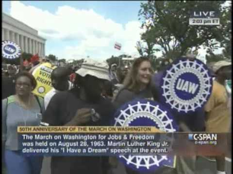 Labor Unions Speak Out In DC On 50th Anniversary of 1963 March For Jobs & Freedom