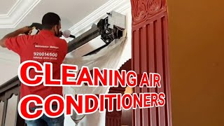 LEARN HOW TO CLËAN AN AIR CONDITIONERS 》SERVICING AC CLEANING AT HOME《