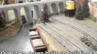 Custom Model Railroad Platinum Series N Scale-9 X 4 Layout