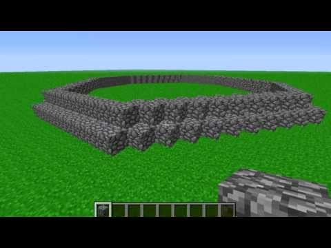 Minecraft how to build an erupting volcano tutorial 1.7.1