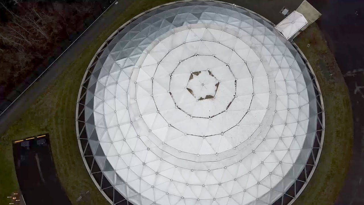 Inside this dome-shaped data center