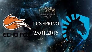 25012016 fox vs tl lcs na mua xuan 2016
