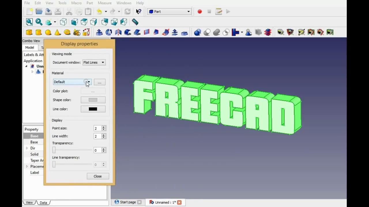 Edit Face Freecad