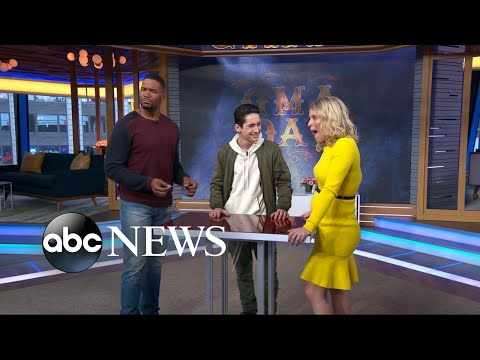 Kid magician Henry Rich performs magic tricks for Michael Strahan and Sara Haines