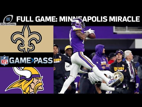 2017 NFC Divisional Round FULL Game: New Orleans Saints vs. Minnesota Vikings