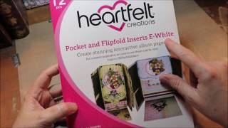 Tutorial How to Brag Album Heartfelt Creations New E Pockets and Flipfolds