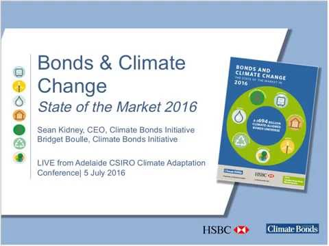 LIVE from Adelaide: Bonds and Climate Change at Climate Adaptation Conference  (05/07/2016)