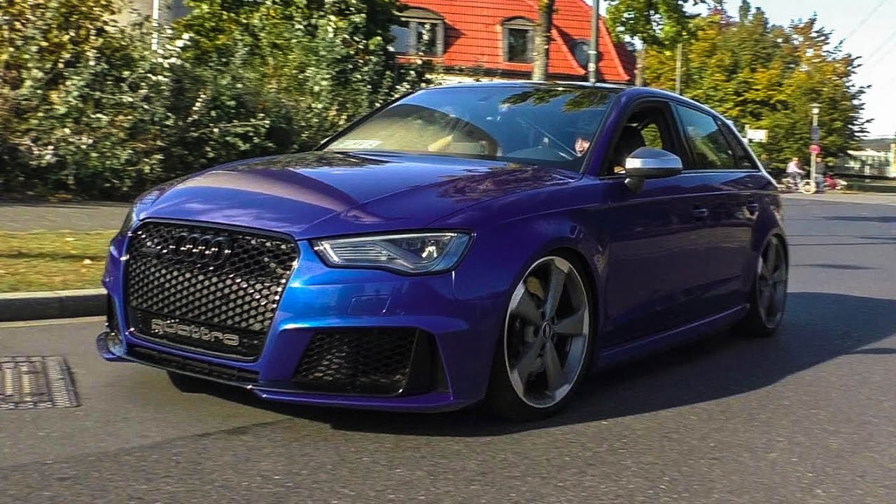 slammed audi rs3 8v with bull x exhaust cars and coffee. Black Bedroom Furniture Sets. Home Design Ideas