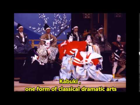 Japanese Kabuki , one form of classical dramatic arts of Japan