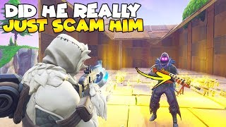 Pas moyen le magasinier vient de l'arnaquer! 😱 (Scammer Gets Scammed) Fortnite Save The World