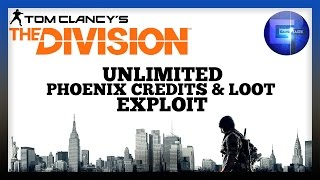 The Division - (LOOT CAVE) Unlimited Phoenix Credits, Loot And Resources Exploit Glitch