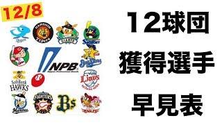 プロ野球12球団獲得選手一覧!/巨人、楽天は活発補強!どうなる⁉  今年...
