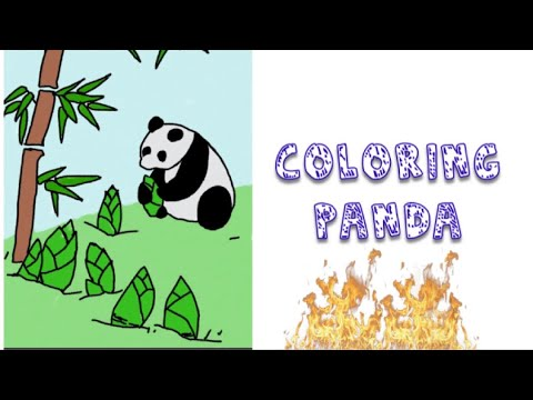 coloring panda fun coloring for kids youtube
