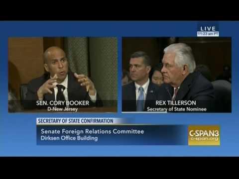 Senator Booker Discusses Russian Aggression in Crimea with Tillerson