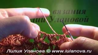 Кофточка летняя - 7 часть - Crochet blouse summer - вязание крючком