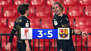 Granada vs Barcelona 3-5 - All Goals & Highlights 2021