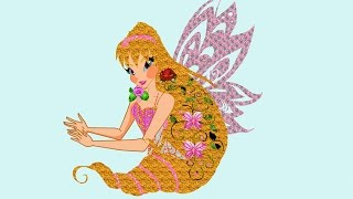 Drawing Winx Club Stella Speed Drawing/Рисую Винкс Стеллу(How to draw Winx Club Stella. Drawing for girls step by step. Pause the video and draw the fairy., 2017-01-15T16:02:15.000Z)