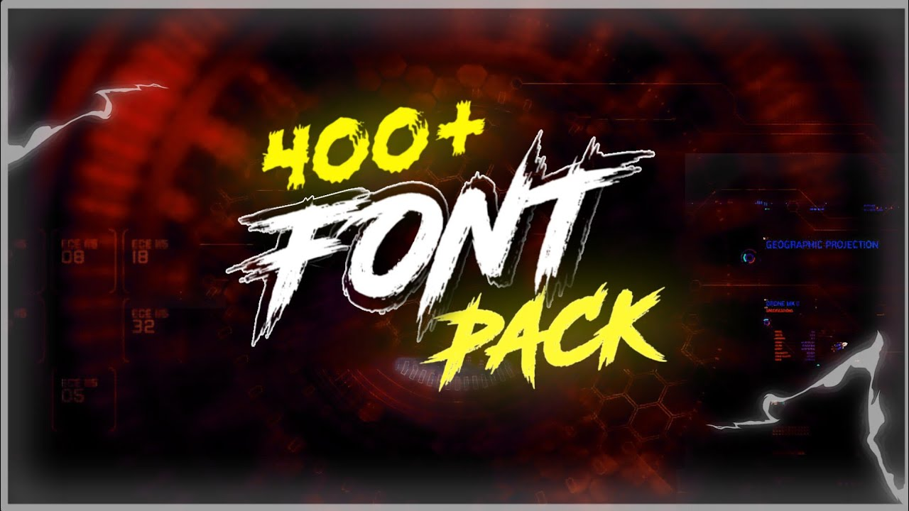 Download Best Gaming And Gfx Fonts 2020    400+ Gaming Font Pack ...