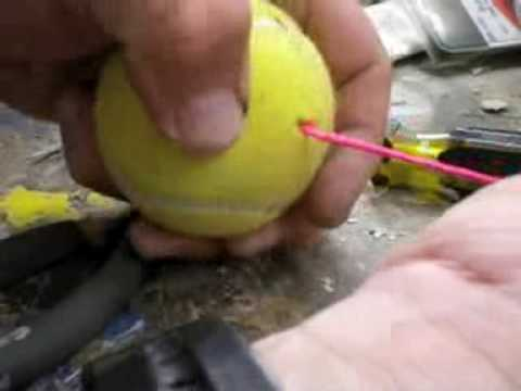 How to make a tennis ball car stop for the garage youtube solutioingenieria Choice Image