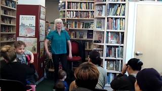 Esther Crow at Bank Street Book Store, May, 2017: Monster in the Closet