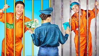 Rich Jail vs Broke Jail / 17 Funny Situations