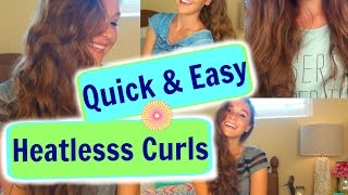 3 quick easy heatless curls