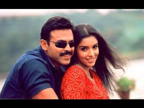 Gharshana TeluguMovie ||Cheliya Cheliya Song With lyrics || Venkatesh, Aasin