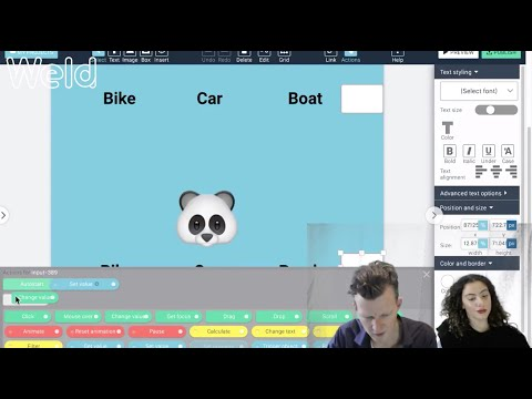 Tutorial: Interactive web content