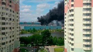 Москва. Пожар на заводе ЗИЛ. Подробности происшествия