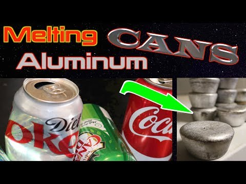 Melting aluminum cans into ingots using my EASY foundry furnace - FarmCraft101 DIY