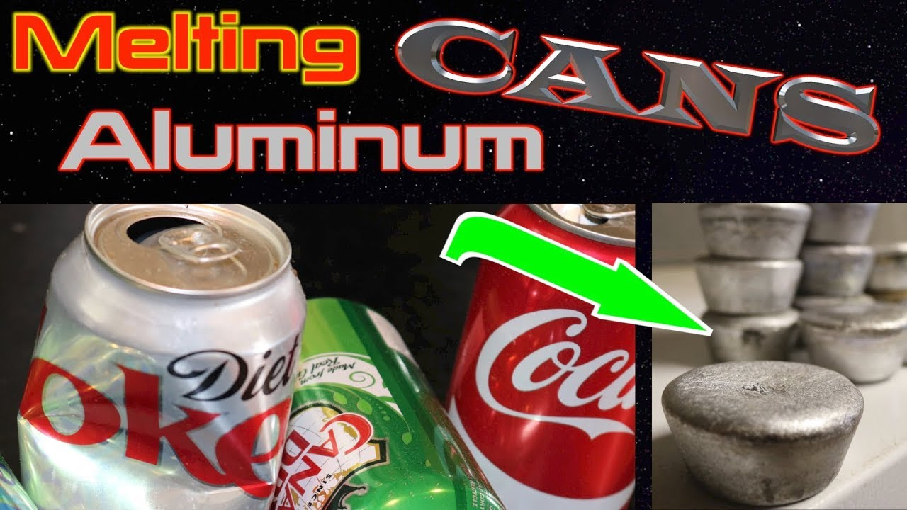 Melting Aluminum Cans Into Ingots Using My Easy Foundry